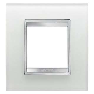 LUX INTERNATIONAL PLATE - IN GLASS - 2 GANG - ICE - CHORUS