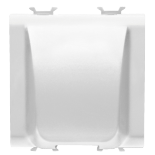 CABLE OUTLET 2 GANG - 2 MODULES - WHITE - CHORUS