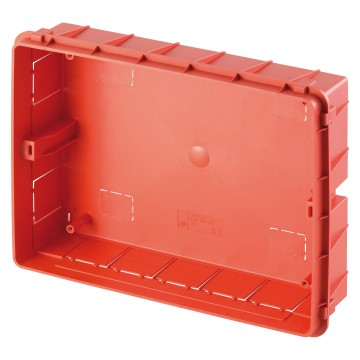 Flush-mounting box for masonry walls