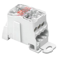 Single-pole modular distribution terminal block - fixing on plate or DIN rail - IP20