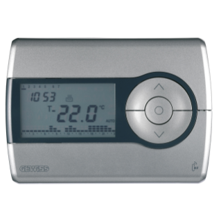 RF TIMED THERMOSTAT - WALL-MOUNTING - RANGE IN FREE FIELD 100m - TITANIUM - CHORUS