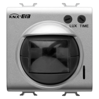 SENSITIVE IR MOVEMENT DETECTOR WITH TWILIGHT SENSOR - KNX - 2 MODULES - BLACK - CHORUS