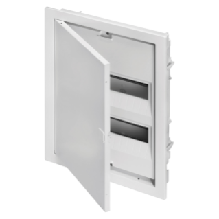 ENCLOSURE FOR BRICKWORK WALLS 24 MODULES - WITH BLANK DOOR AND METAL FRAME - IP40