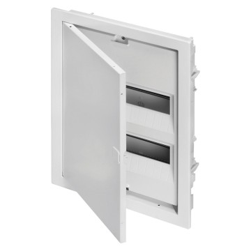 Enclosures for brick walls equipped with bipolar terminal blocks - White RAL 9003