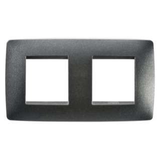ONE INTERNATIONAL PLATE - IN PAINTED TECHNOPOLYMER - 2+2 GANG HORIZONTAL - SLATE - CHORUS