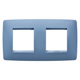 ONE INTERNATIONAL PLATE - IN PAINTED TECHNOPOLYMER - 2+2 GANG HORIZONTAL - SEA BLUE - CHORUS