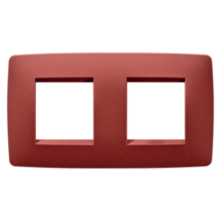 ONE INTERNATIONAL PLATE - IN PAINTED TECHNOPOLYMER - 2+2 GANG HORIZONTAL - RUBY - CHORUS