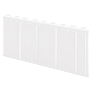 PLASTIC MODULES COVER PROFILE - 4,5 MODULES - WHITE RAL9016