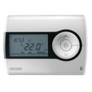 RF TIMED THERMOSTAT - WALL-MOUNTING - RANGE IN FREE FIELD 100m - WHITE - CHORUS