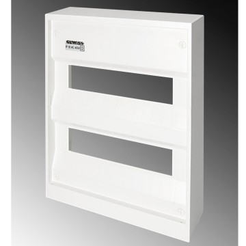 Plastic frontal for wall-mounting enclosures