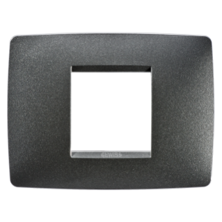 ONE PLATE - IN PAINTED TECHNOPOLYMER - 2 GANG - SLATE - CHORUS