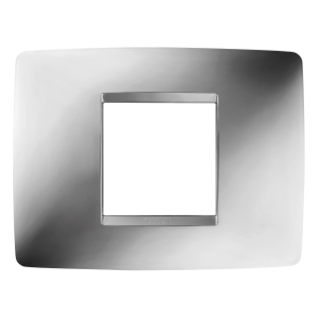 ONE PLATE - IN METALLISED TECHNOPOLYMER - 2 GANG - CHROME - CHORUS