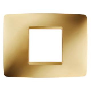 ONE PLATE - IN METALLISED TECHNOPOLYMER - 2 GANG - GOLD - CHORUS