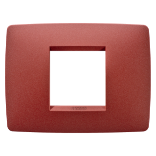 ONE PLATE - IN PAINTED TECHNOPOLYMER - 2 GANG - RUBY - CHORUS