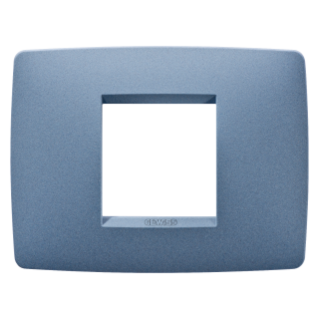 ONE PLATE - IN PAINTED TECHNOPOLYMER - 2 GANG - SEA BLUE - CHORUS