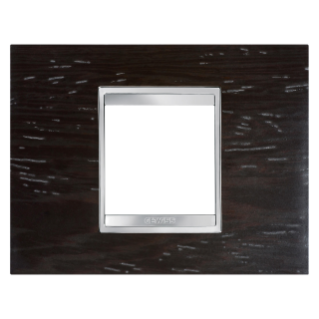 PLAQUE LUX RECTANGULAIRE - BOIS - 2 MODULES - WENGUÉ - CHORUS