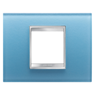 PLAQUE LUX RECTANGULAIRE - EN VERRE - 2 MODULES - AIGUE-MARINE - CHORUS