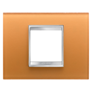 PLAQUE LUX RECTANGULAIRE - EN VERRE - 2 MODULES - OCRE - CHORUS