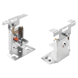 FAST & EASY QUICK ASSEMBLY BRACKETS KIT WITH SUPPORT SLIDE, ADJUSTABLE FOR DIN RAIL