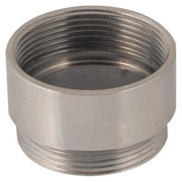 Nickel-plated brass threaded coupling devices