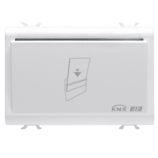 TRANSPONDER CARD HOLDER UNIT - KNX - 12/24V ac/dc - 3 MODULES - WHITE - CHORUS