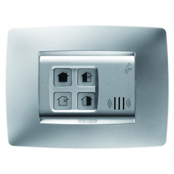 Push-button panels for activation and partialisation - wall-mounting - RF - ONE plate