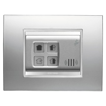 Push-button panels for activation and partialisation - wall-mounting - RF - LUX plate