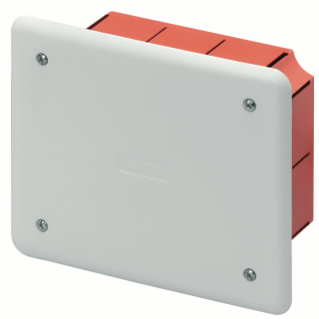JUNCTION AND CONNECTION BOX - FOR BRICK WALLS - DIMENSIONS 118X96X50 - WHITE LID RAL9016
