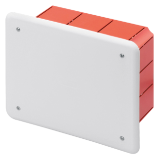 JUNCTION AND CONNECTION BOX - FOR BRICK WALLS - DIMENSIONS 160X130X70 - WHITE LID RAL9016