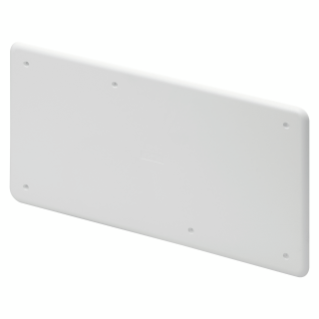 HIGH RESISTANCE SHOCKPROOF PLAIN LID - FOR PT/PT DIN AND PT DIN GREEN WALL BOXES - 392X152 - IP40 - WHITE RAL9016