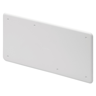 HIGH RESISTANCE SHOCKPROOF PLAIN LID - FOR PT/PT DIN AND PT DIN GREEN WALL BOXES - 196X152 - IP40 - WHITE RAL9016