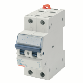 MINIATURE CIRCUIT BREAKER - MT 250- 2P CHARACTERISTIC C 6A - 2 MODULES