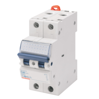 MINIATURE CIRCUIT BREAKER - MT 100- 2P CHARACTERISTIC B 16A - 2 MODULES
