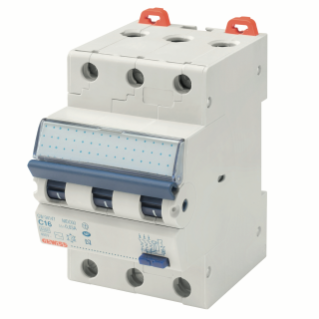 COMPACT RESIDUAL CURRENT CIRCUIT BREAKER WITH OVERCURRENT PROTECTION - MDC 45 - 3P CURVE C 16A TYPE A Idn=0,03A - 3 MODULES