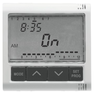 Electronic daily/weekly timer, 1-channel