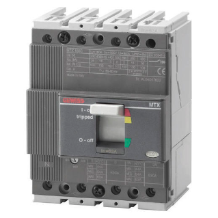 MTX 160c - MOULDED CASE CIRCUIT BREAKER - TYPE C - 25kA 4P 80A TM1 RELEASE IM=10In