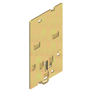 BRACKET FOR FIXING ON DIN PROFILE - FOR MTX/E/M 160c - DIN EN 50022 - WITH SIDE MOTOR CONTROL
