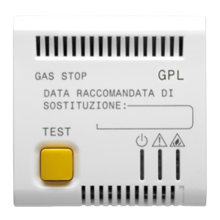 LPG DETECTOR - 12V ac - 2 MODULES - WHITE - CHORUS