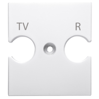 UNIVERSAL SUPPORT - COMBINED SOCKET OUTLET TV-R - WHITE - CHORUS