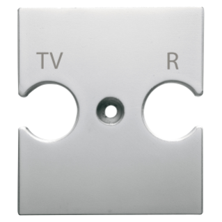 UNIVERSAL SUPPORT - COMBINED SOCKET OUTLET TV-R - TITANIUM - CHORUS