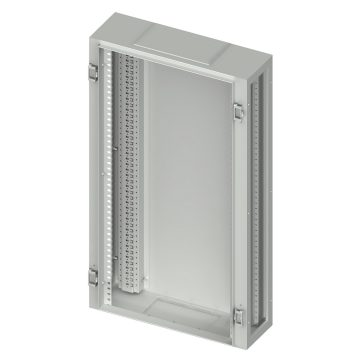 Monobloc side-by-side wall-mounting structures in painted sheet steel Colour grey RAL 7035 - Complete with functional frames, cable gland plates