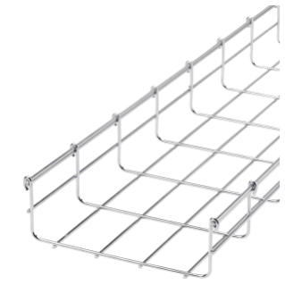 GALVANIZED WIRE MESH CABLE TRAY  BFR60 - LENGTH 3 METERS - WIDTH 150MM - FINISHING: Z100