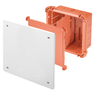 JUNCTION AND CONNECTION BOX FOR SIDE-BY-SIDE ASSEMBLY FOR UPRIGHTS - DIMENSIONS 260X260X121 - PLAIN PLUMBABLE LID - WHITE RAL9016