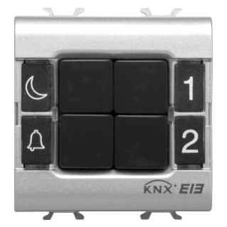 PUSH-BUTTON PANEL - EASY - 4 CHANNELS - 2 MODULES - TITANIUM - CHORUS