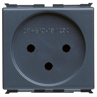 ISRAELI STANDARD SOCKET-OUTLET 250V ac - 2P+E 16A - 2 MODULES - PLAYBUS
