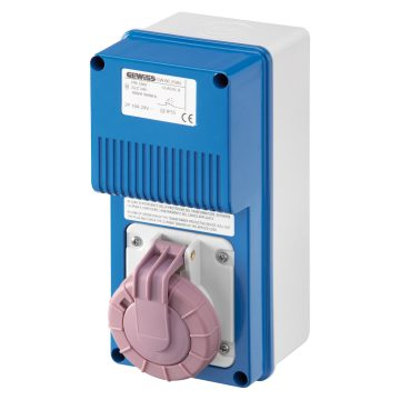 Base vertical con fondo con transformador de seguridad (SELV) - 230 V/24 V - 50 Hz - IP67