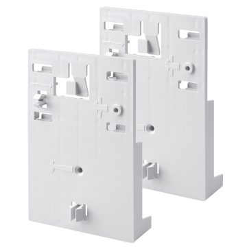 Pair of supports for the fixing of wiring trunking