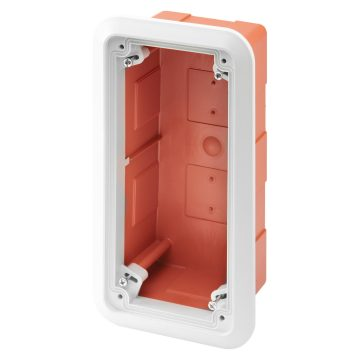 Box with frame for the flush-mounting assembly of fixed vertical socket-outlets - IP55