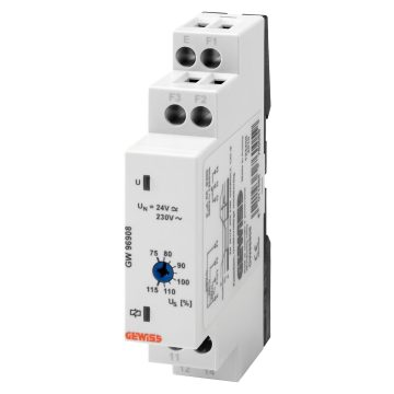 Undervoltage monitoring relay - 1 phase AC/DC electrical system
