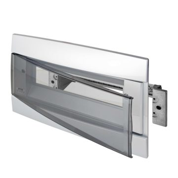 Front covers and relative functional frames with DIN rail for decorative enclosures
